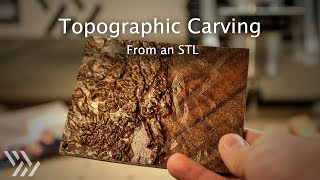 Carving a Topographic Map of Colorado from an STL - #131 [CNC]