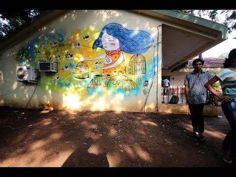 Graffiti Project with Vimal Chandran - Fine Arts Club, IIT Madras
