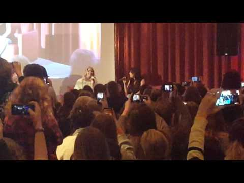 "Janel Parrish & Sasha Pieterse Singing PLL Opening Song ""Got A Secret"""