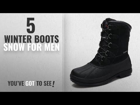 Top 10 Winter Boots Snow [ Winter 2018 ]: arctiv8 Men's nortiv8 170390-M Black Insulated Waterproof