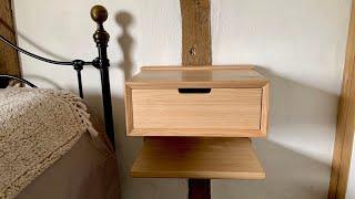 English Chestnut  - Floating Bedside Table - Nightstands