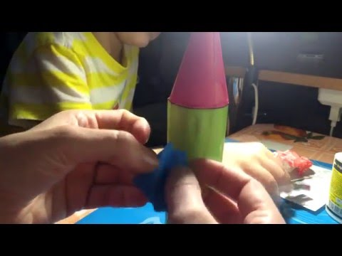 Ракета своими руками из бумаги и картона шаблон