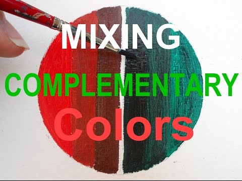 Oil Painting for Beginners: Mix Complementary Colors Red and Green Painting Tutorial