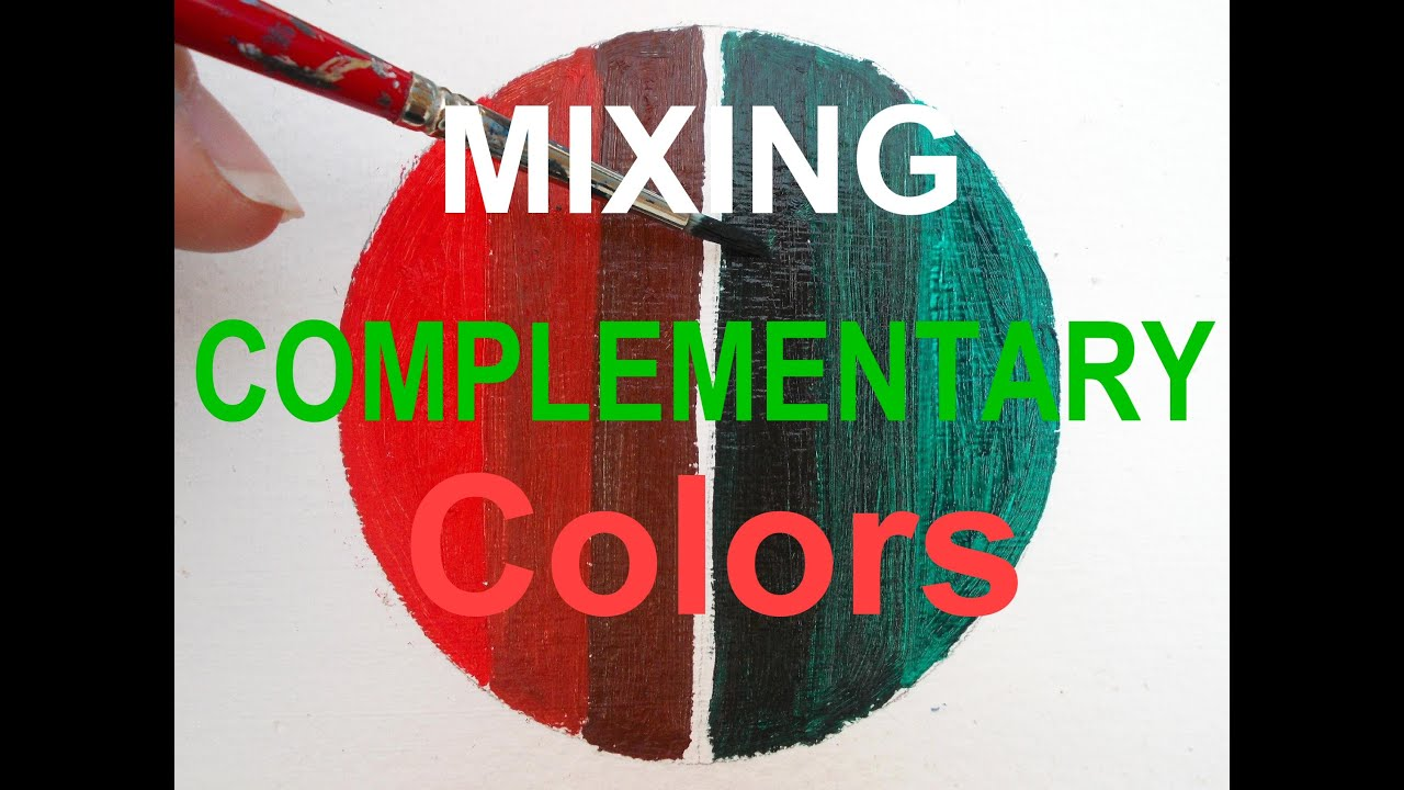 Oil Painting For Beginners Mix Complementary Colors Red And Green Tutorial