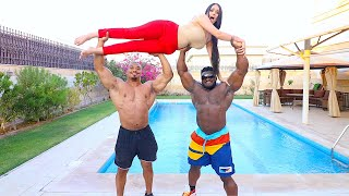 THE WORLDS STRONGEST MEN VS 1 GIRL !!!
