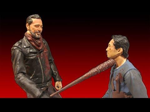 The Walking Dead - Negan & Glenn 5 Inch TV Action Figure Review