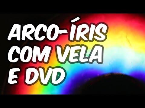Como fazer arco-íris caseiro com vela e DVD (Experiência de Física - Ótica)