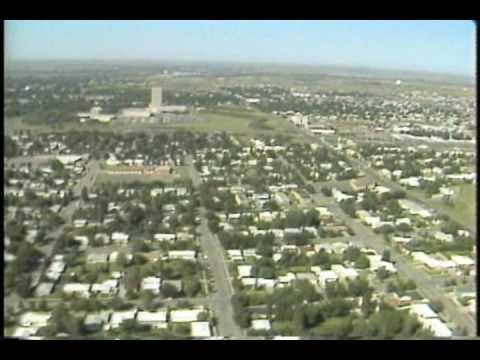 Historical: Aerial Of Bismarck, North Dakota, Filmed In 1981