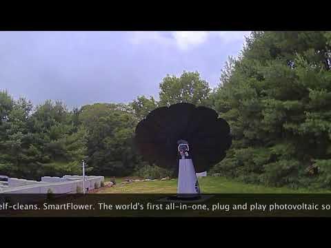 Time lapse of Lavender Pond Farm's solar SmartFlower.