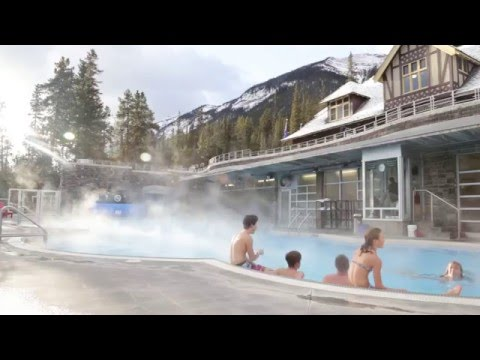 A Winter Experience At The Banff Upper Hot Springs