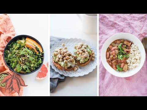 3 HIGH PROTEIN VEGAN RECIPES | a full day of meals ??