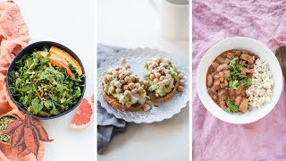 3 HIGH PROTEIN VEGAN RECIPES | a full day of meals 💪🏾