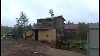 Монтаж крыши (шифер) на доме из старых досок своими руками.