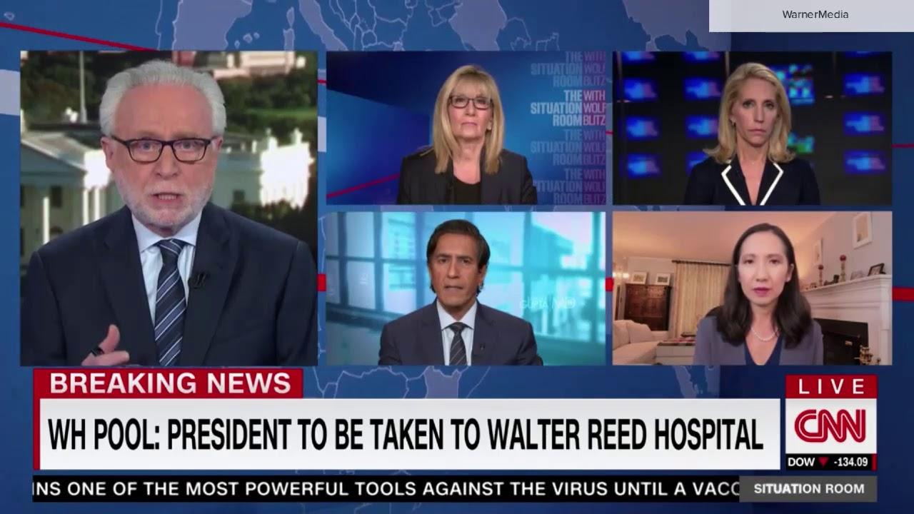 CNN breaking news: Trump taken to Walter Reed