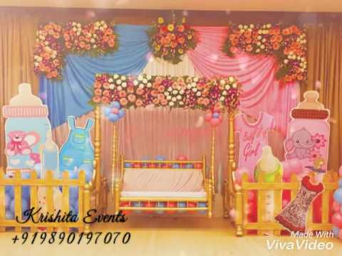 Dohale jevan decoration pune baby shower decoration pune for Baby palna decoration