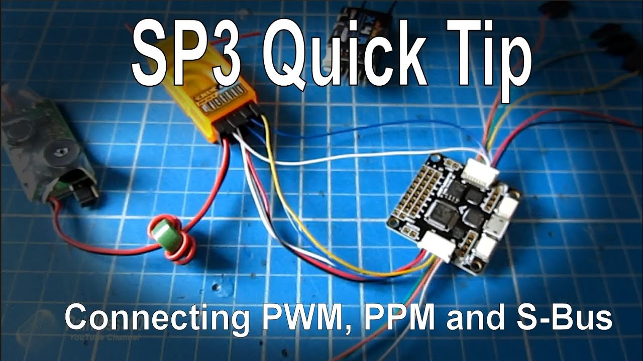 seriously pro f3 sp3 quick tip install and setup pwm cppm and s bus radio receivers [ 1280 x 720 Pixel ]