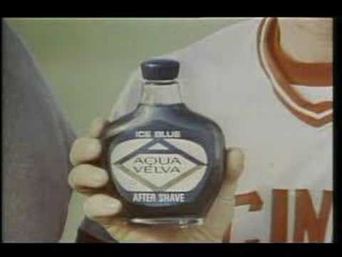 Pete Rose Sings!! Aqua Velva Commercial 2-1976