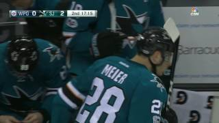 Meier scores a beauty after Ward is annihilated along the boards