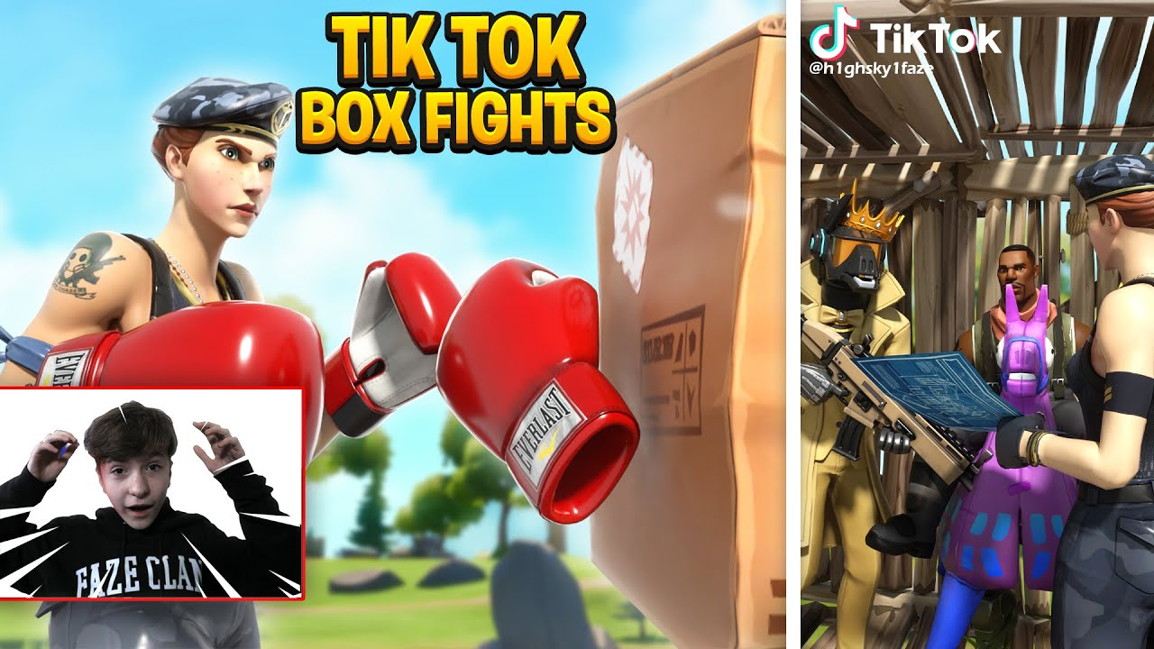 I TRIED OUT for a TIKTOK Clan As FAZE H1GHSKY1! BOX Fights (Part 2)