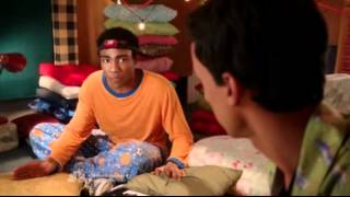 Community S03e13 Troy Wants To Build His Blanket Fort Again. Abed Hums Daybreak, Again.
