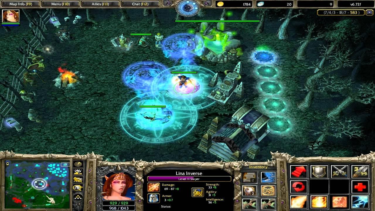 warcraft 3 dota lina how to play