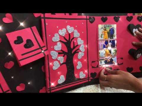 Handmade love album |  best handmade gift | best scrapbook ideas | RT Art |