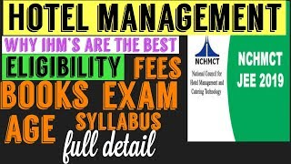 HOTEL MANAGEMENT -NCHMCT JEE 2019