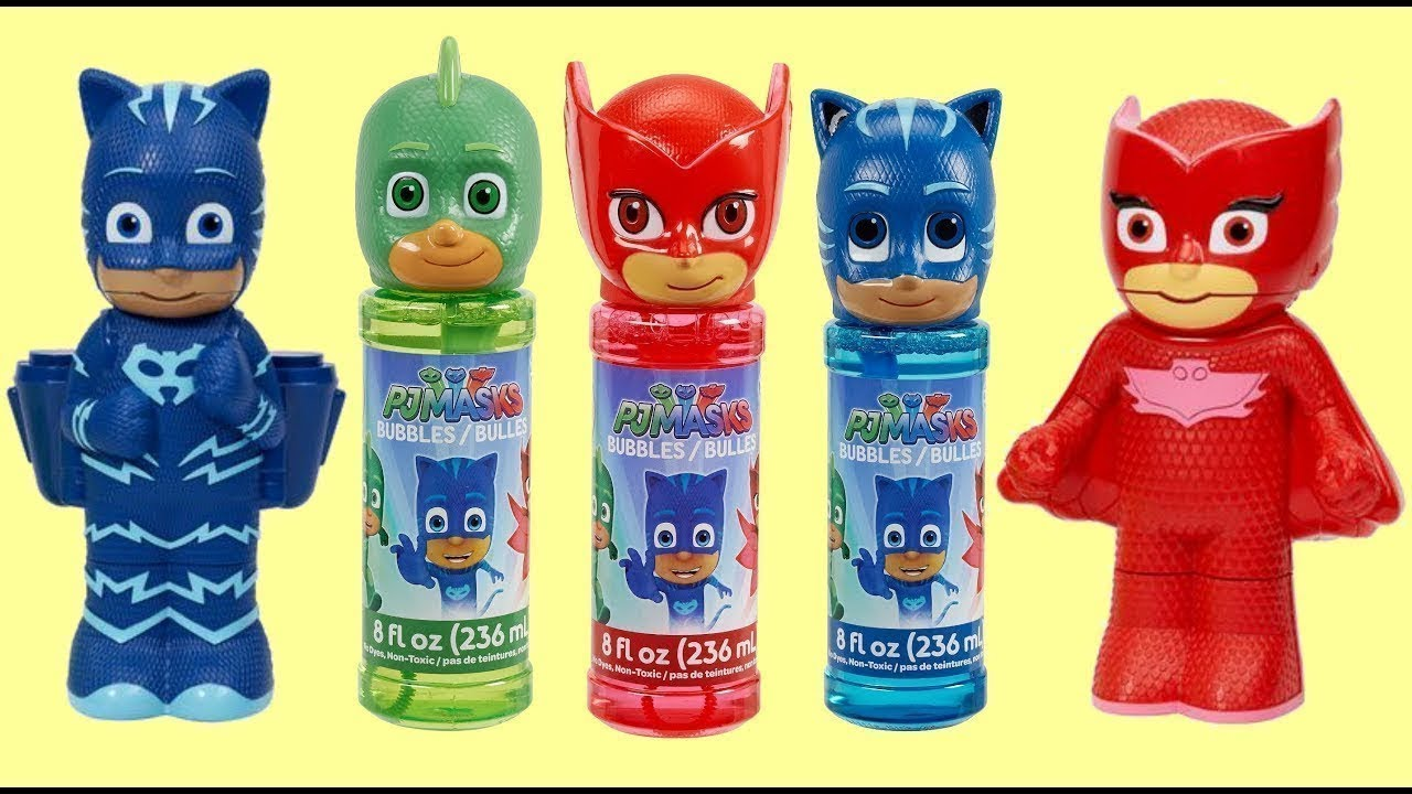Download Nat and Essie Play with and Review PJ Mask Bubble Machines