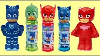 PJ MASKS Bubble Set with Owlette, Catboy & Gekko: Bath Time Fun & Surprises Video