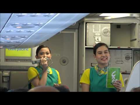 Flying Cebu Pacific Airlines Cebu City to Manila April 2017
