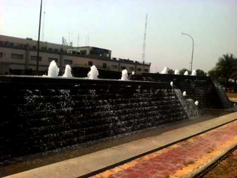 Airport T3 terminal outdoor fountain new delhi