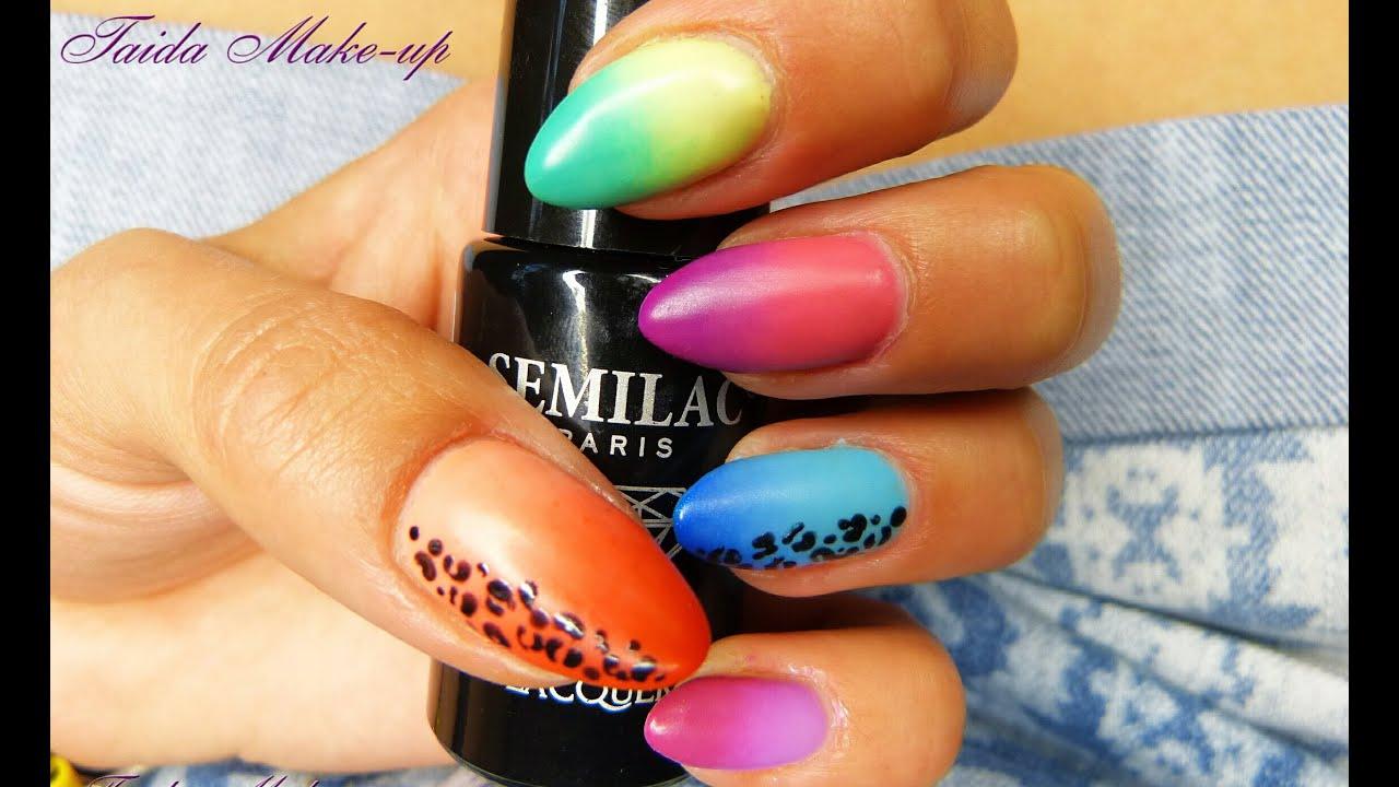 Kolorowy Manicure Hybrydowy Na Lato Ombre Doskonale Na Wakacje
