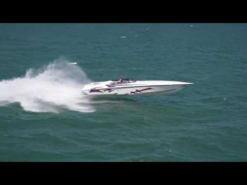 2017 Erie Poker Run with Thomas Schlenz - 42' Fountain Powerboat - Fever Marine