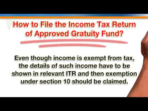Taxation of Approved Gratuity Trust Under Income Tax Act 1961