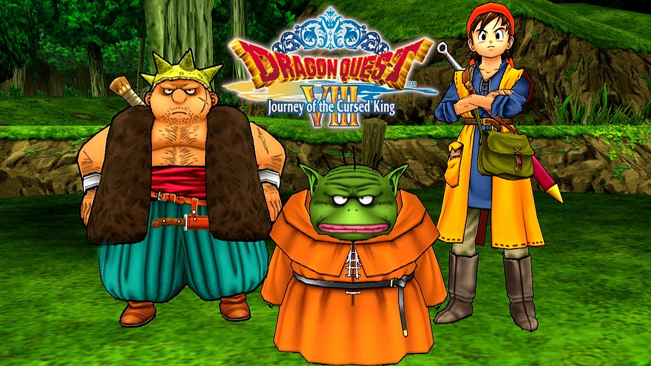 dragon quest viii journey of the cursed king gameplay first