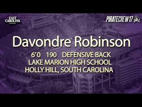 Davondre Robinson - DB - 2017