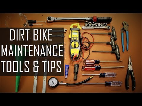Dirt bike maintenance tools and tips. How to maintain your dirt bike - Beginners guide.