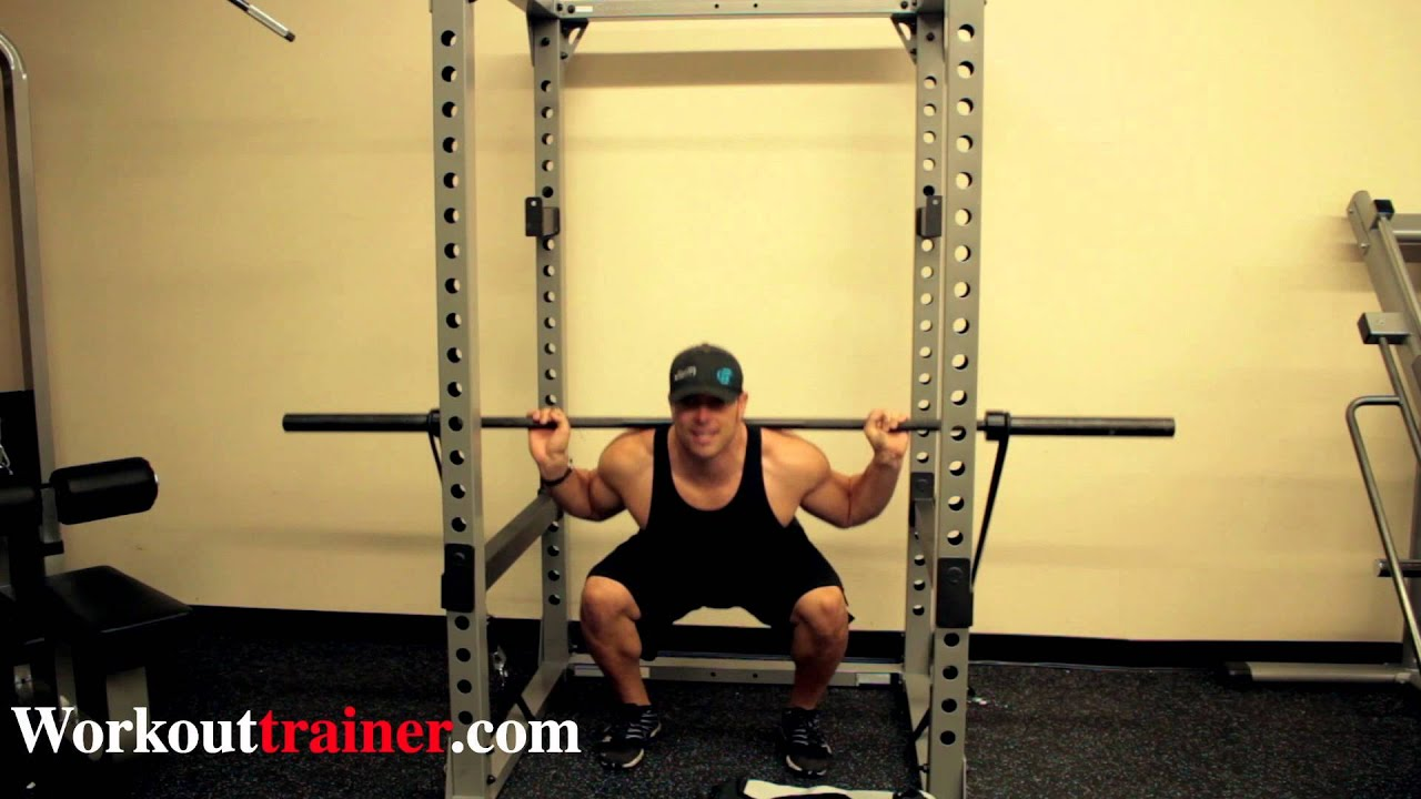 Power Rack Band Set Up With Barbell Squats Youtube