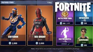"NEUE ""RED KNIGHT"" SKIN RETURN + ""CRITERION"" SKIN JETZT HERAUS! (Fortnite Battle Royale Live)"