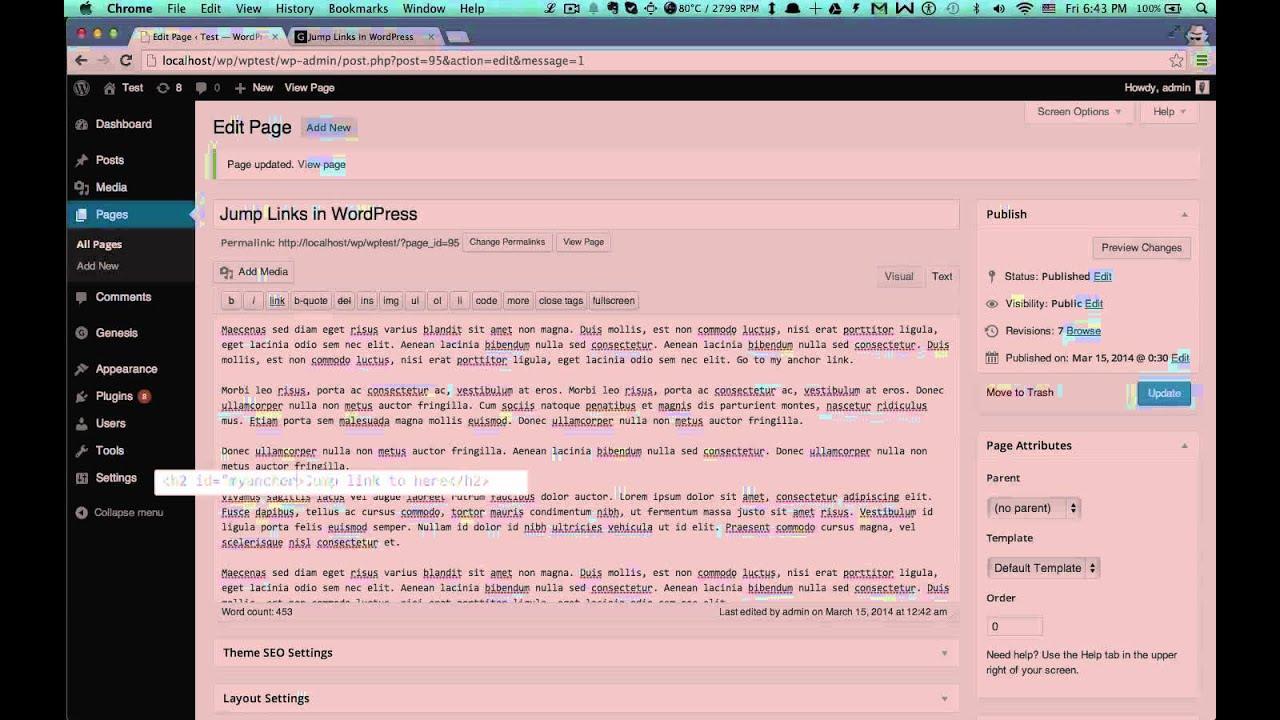 how to create a phone link in wordpress