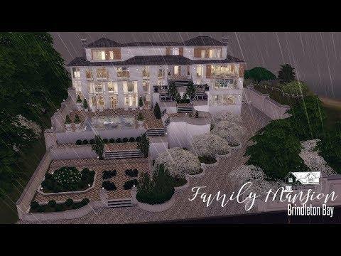 the-sims-4-:-speedbuild-|-family-mansion-|-dl+-cc