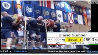 IPF Squat 455 kg ( @158 kg) Blaine Sumner. USA Nationals 2012