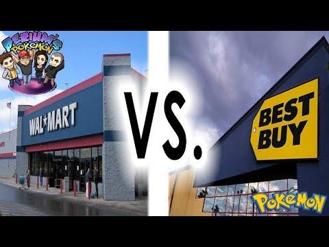 Walmart VS Best Buy!!! Pokemon Cards Opening BATTLE!
