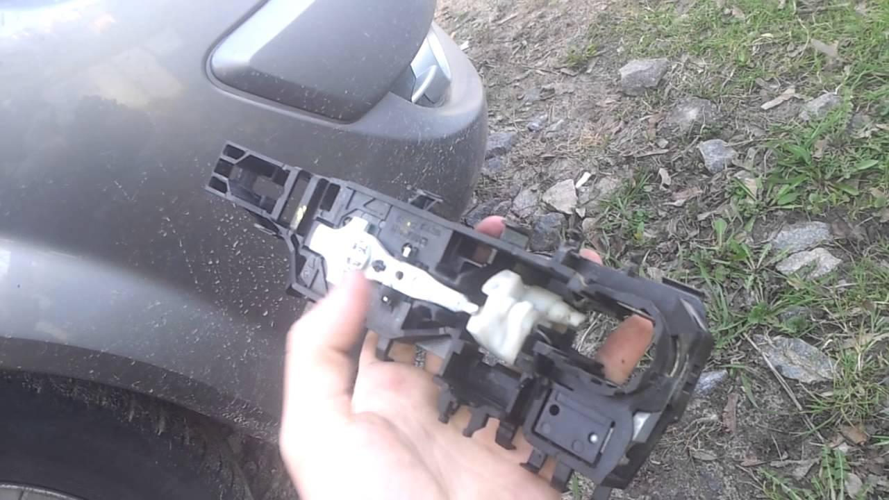 замена ручки водительской двери renault megane ii...