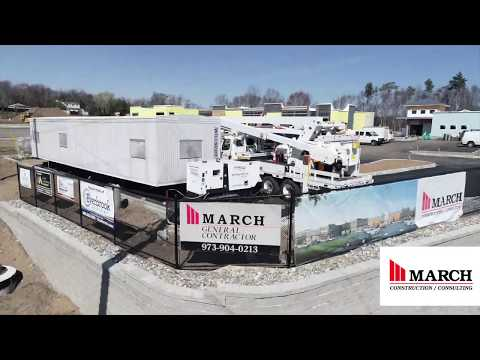 The Parke at Hamburg Spring 2020 Drone Footage March Construction