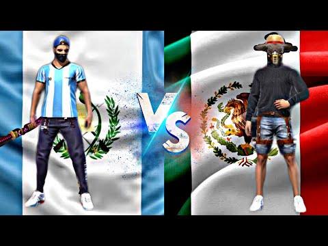 GUATEMALA VS MEXICO FREE FIRE LES CREO SALA PVP A DESCONOCIDOS QUE ENCUENTRO EN ENTRENAMIENTO
