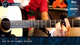 """Cómo tocar """"Ese Maldito Momento"""" de No Te Va Gustar en Guitarra (HD) Tutorial - Christianvib"""