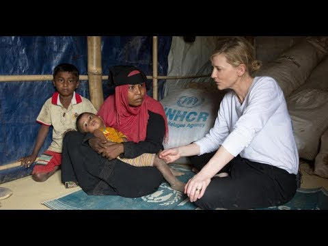 """UNHCR Goodwill Ambassador Cate Blanchett warns of a """"race against time"""" to protect Rohingya refugees"""