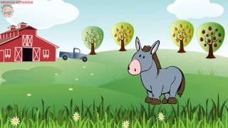 Домашние животные на ферме. Голоса животных.  Развивающий мультик для детей