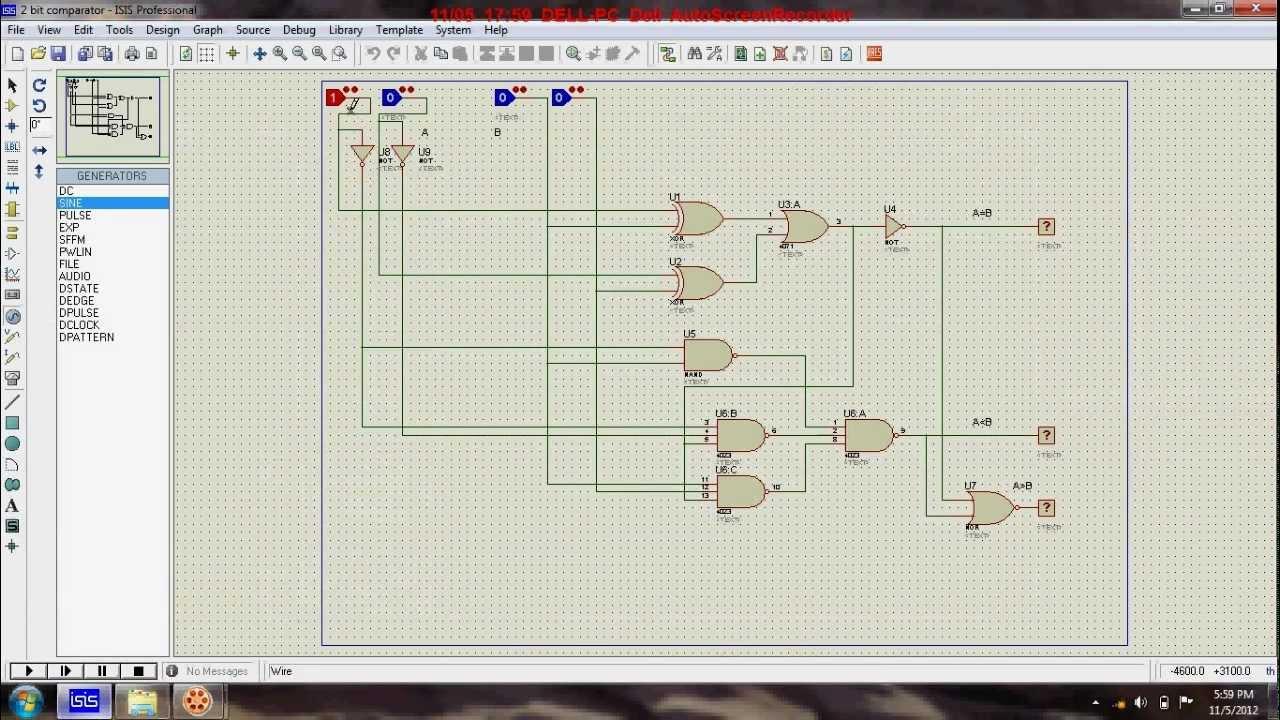 Combinational Logic Gates Circuit Diagram Of 4 Bit Comparator